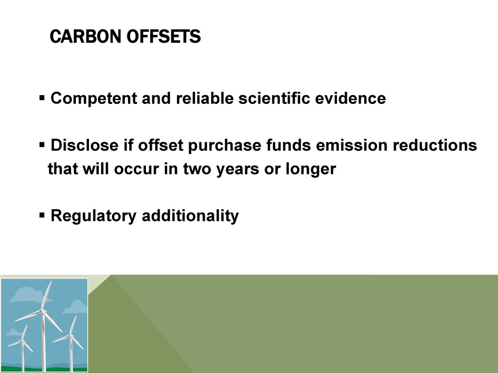 CARBON OFFSETS § Competent and reliable scien...