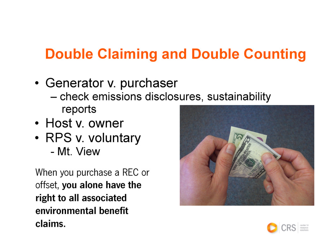 Double Claiming and Double Counting • Generato...