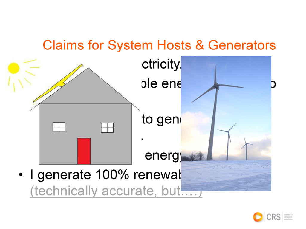 • I buy fixed-rate electricity. • I generate ...