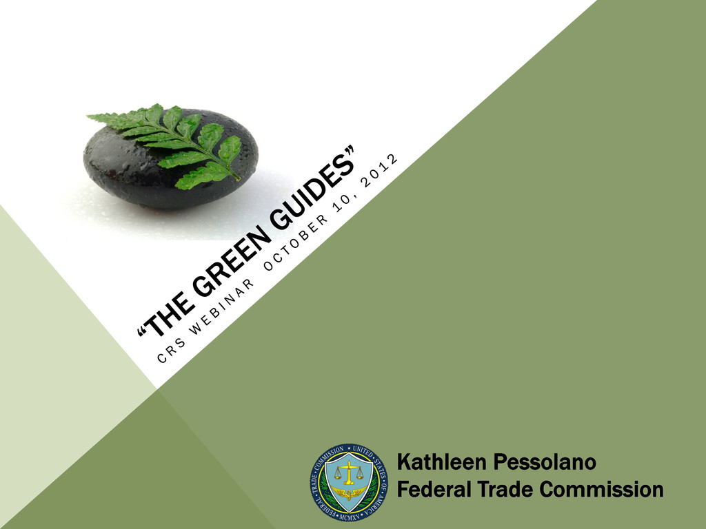 Kathleen Pessolano Federal Trade Commission