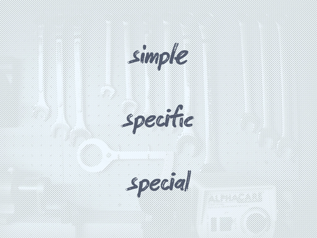 simp spefic speal