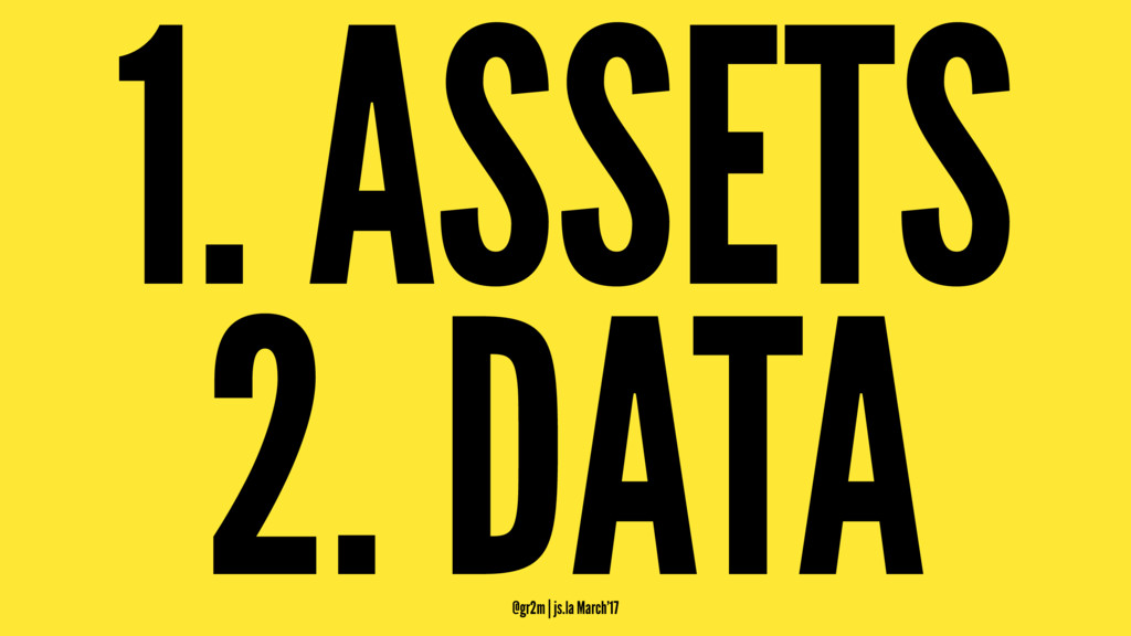 1. ASSETS 2. DATA @gr2m | js.la March'17