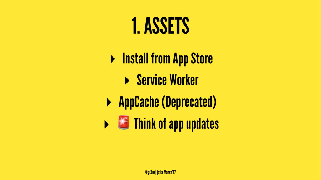 1. ASSETS ▸ Install from App Store ▸ Service Wo...