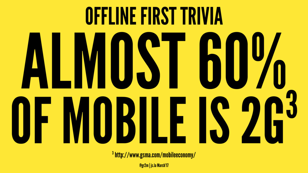 OFFLINE FIRST TRIVIA ALMOST 60% OF MOBILE IS 2G...