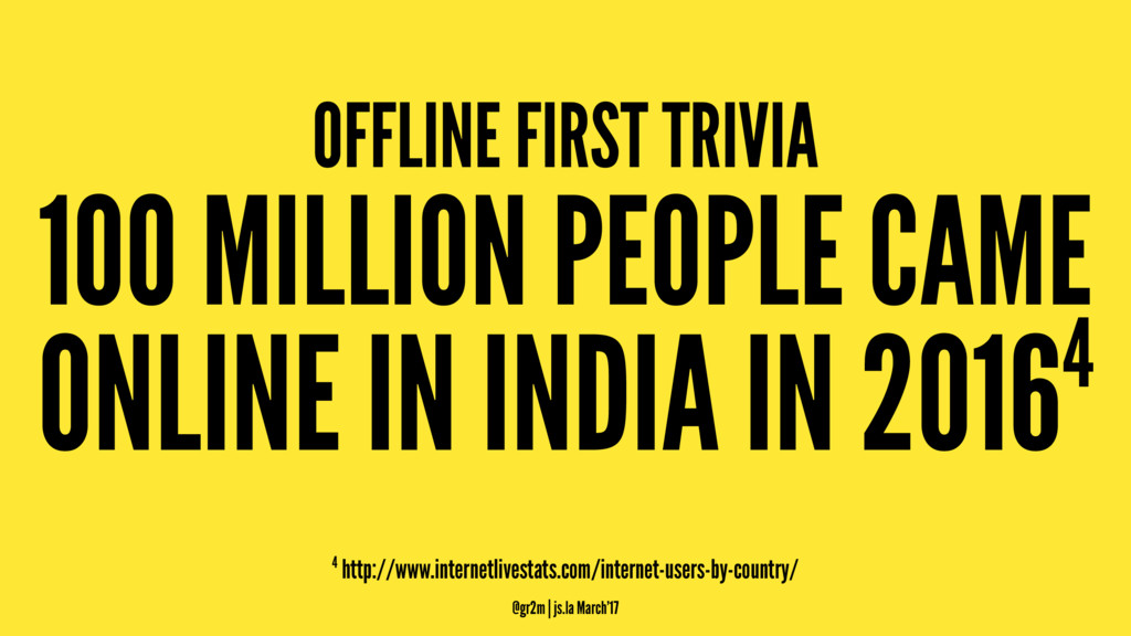 OFFLINE FIRST TRIVIA 100 MILLION PEOPLE CAME ON...