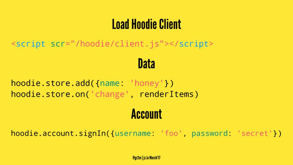"""Load Hoodie Client <script scr=""""/hoodie/client...."""