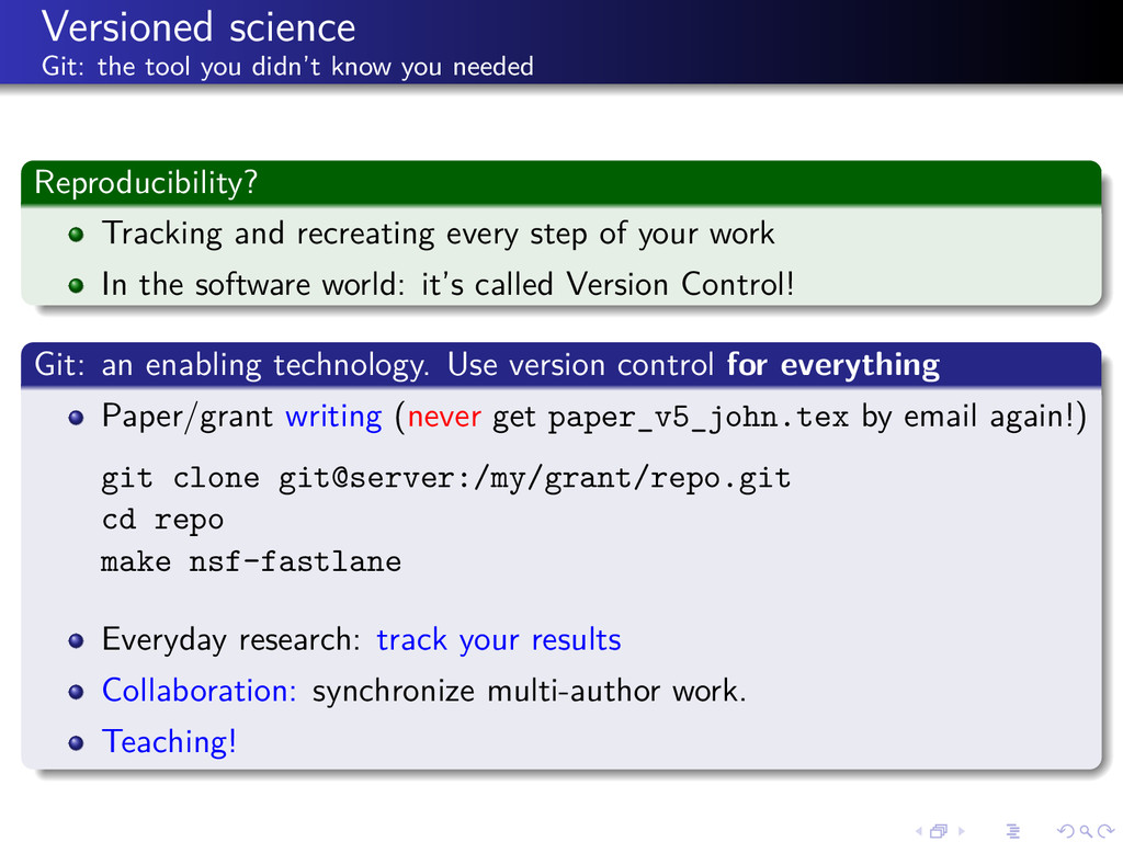 Versioned science Git: the tool you didn't know...
