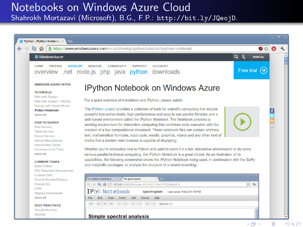 Notebooks on Windows Azure Cloud Shahrokh Morta...