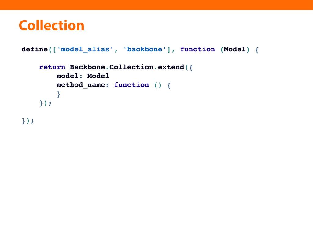 Collection define(['model_alias', 'backbone'], ...