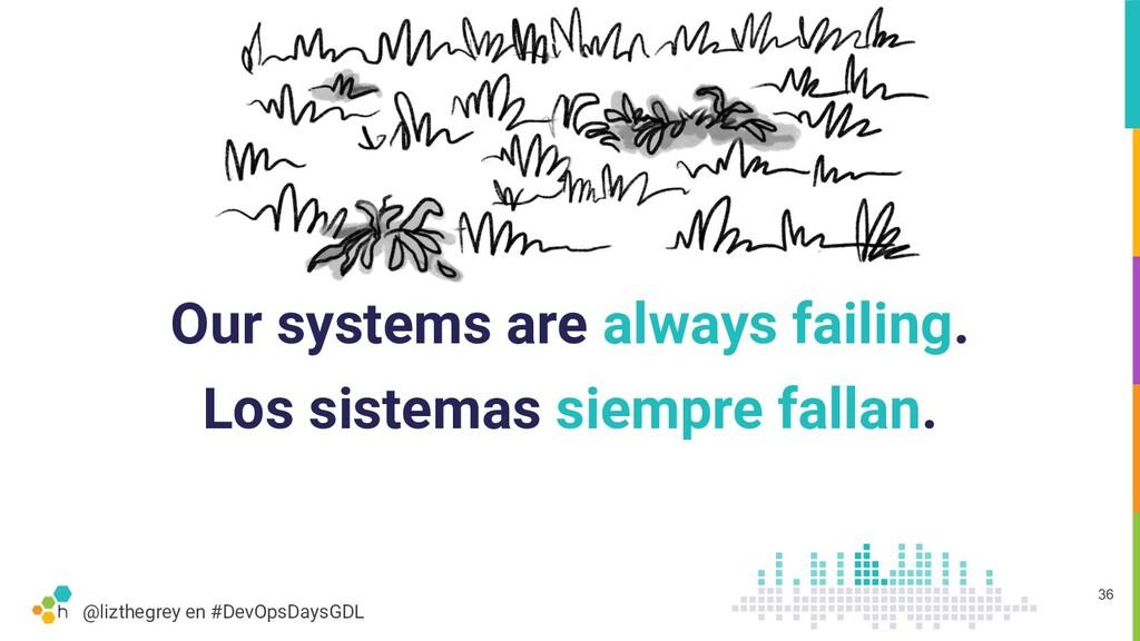 @lizthegrey en #DevOpsDaysGDL Our systems are a...
