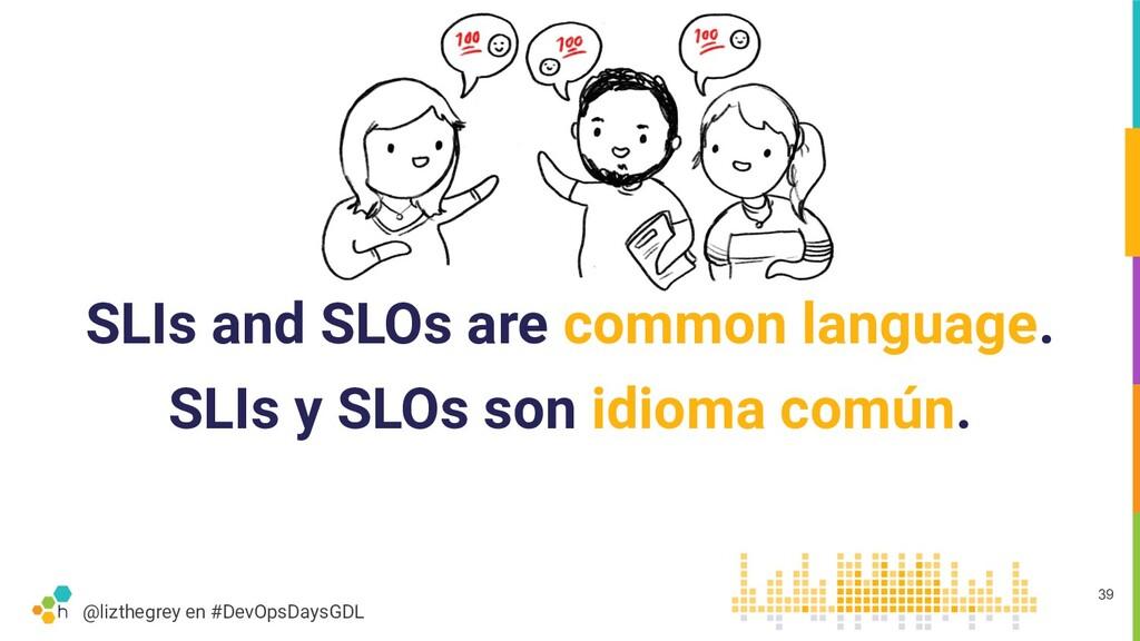 @lizthegrey en #DevOpsDaysGDL SLIs and SLOs are...