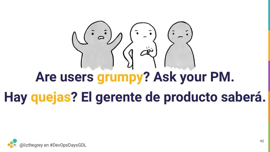 @lizthegrey en #DevOpsDaysGDL Are users grumpy?...
