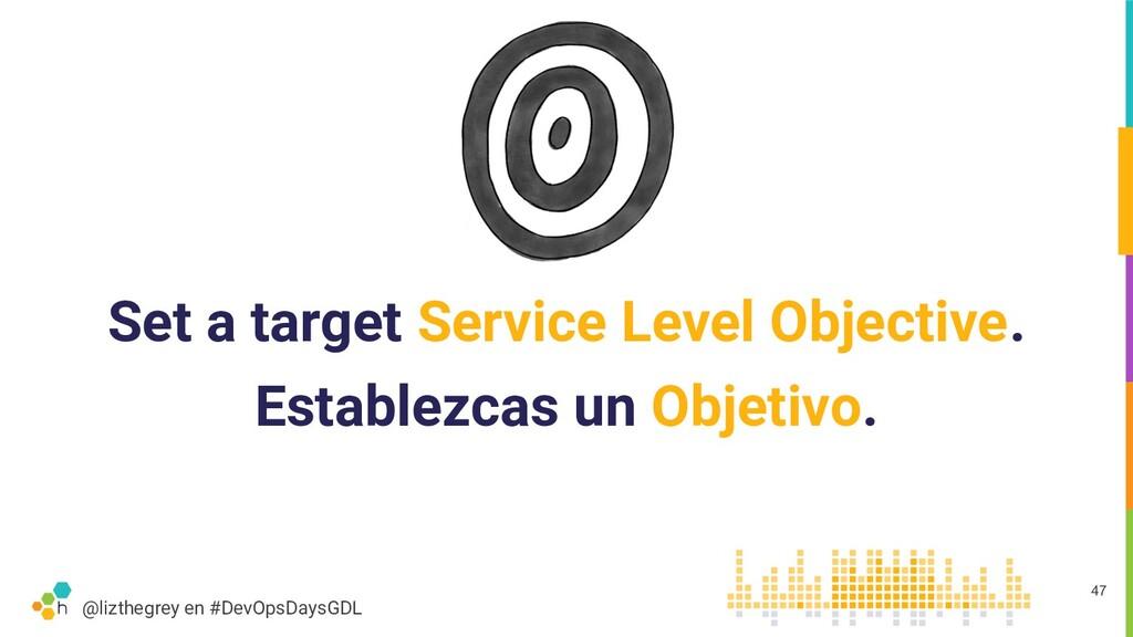 @lizthegrey en #DevOpsDaysGDL Set a target Serv...