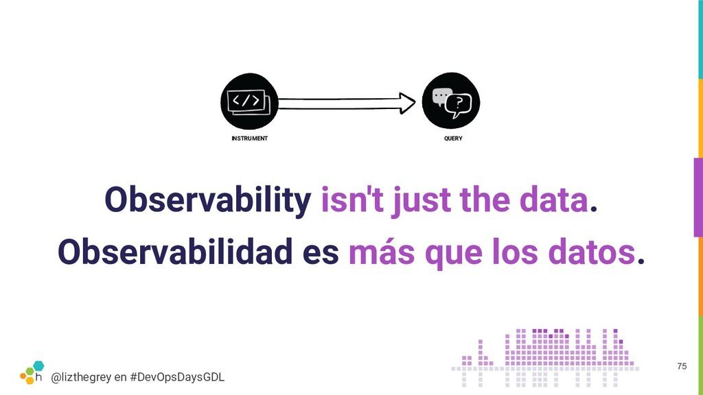 @lizthegrey en #DevOpsDaysGDL Observability isn...