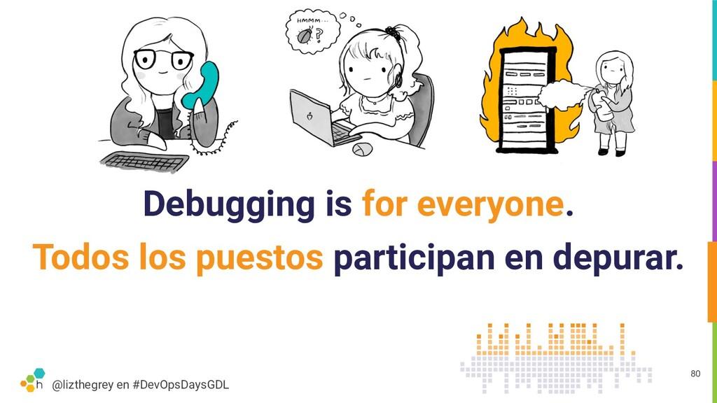 @lizthegrey en #DevOpsDaysGDL Debugging is for ...
