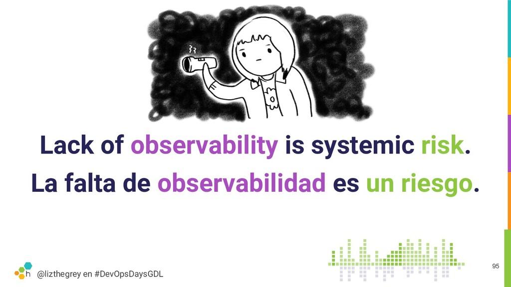 @lizthegrey en #DevOpsDaysGDL Lack of observabi...
