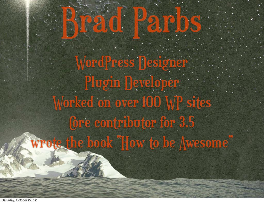 Brad Parbs Plugin Developer Worked on over 100 ...