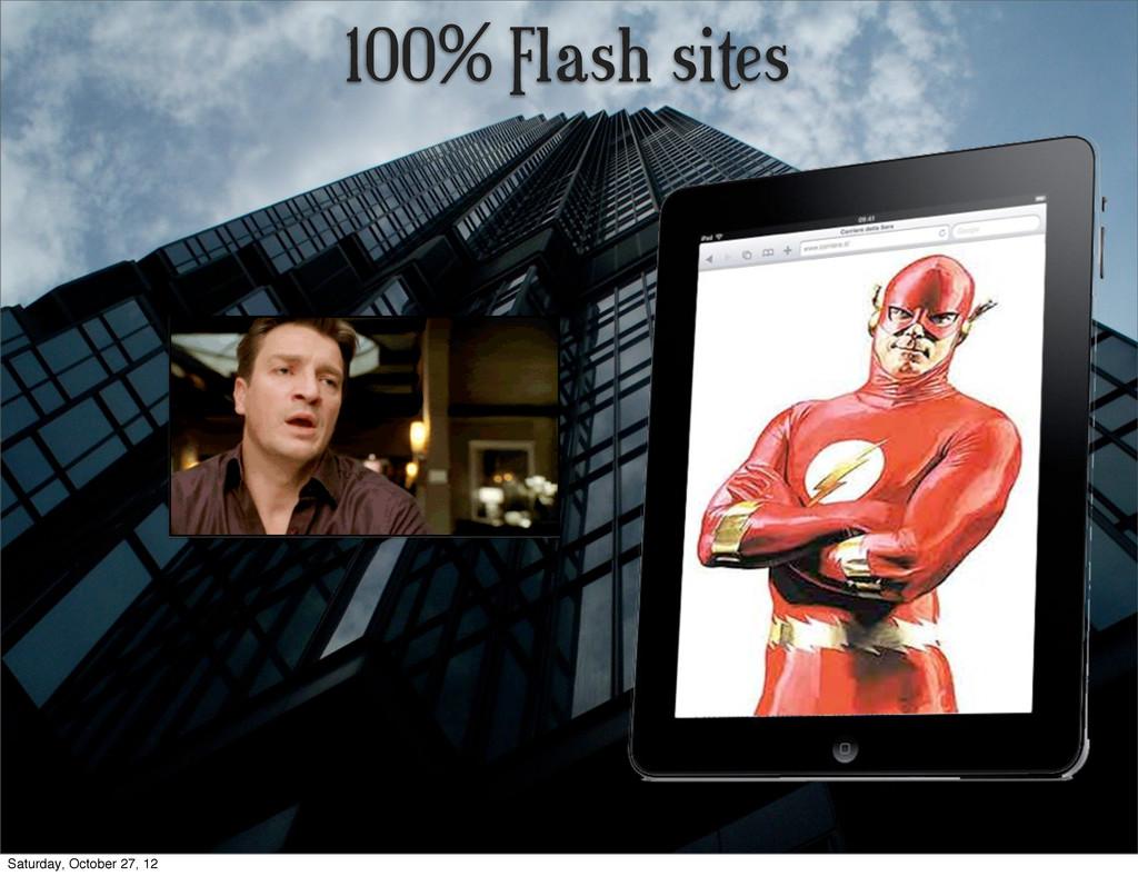 100% Flash sites Saturday, October 27, 12