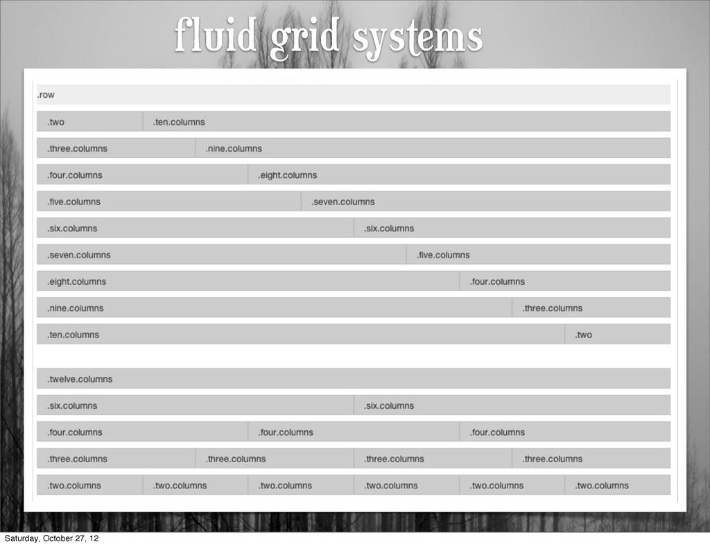 fluid grid systems Saturday, October 27, 12