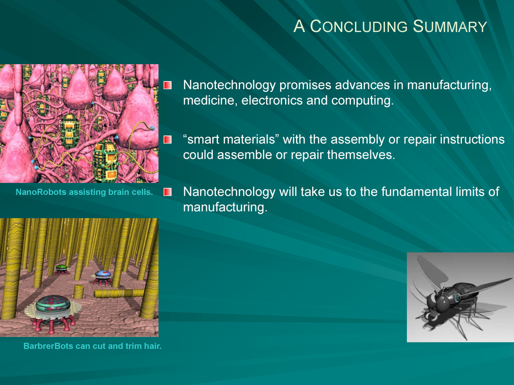 A CONCLUDING SUMMARY Nanotechnology promises ad...