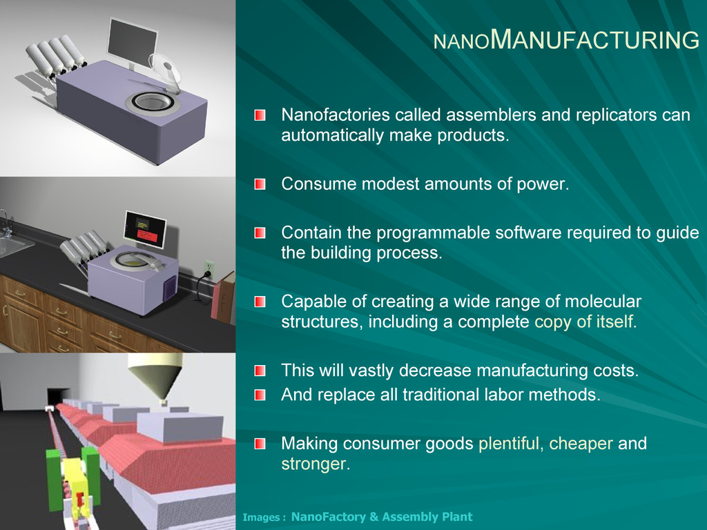 Images : NanoFactory & Assembly Plant NANOMANUF...