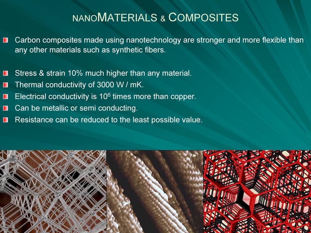 NANOMATERIALS & COMPOSITES Carbon composites ma...
