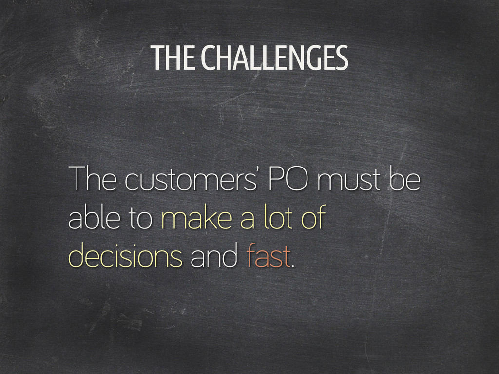 THE CHALLENGES The customers' PO must be able t...