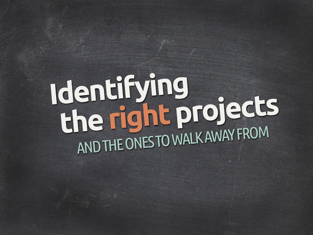 Identifying AND THE ONES TO WALK AWAY FROM the ...