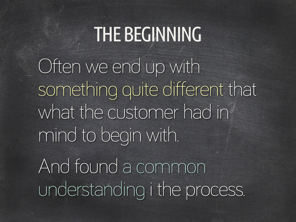 THE BEGINNING Often we end up with somethin qui...