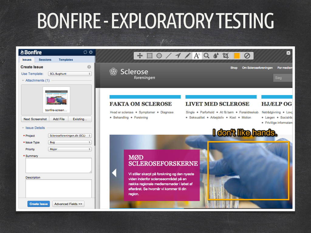 BONFIRE - EXPLORATORY TESTING