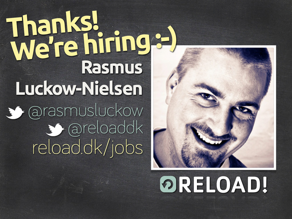 Rasmus Luckow-Nielsen @rasmusluckow Thanks! rel...
