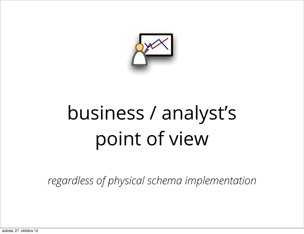 business / analyst's point of view regardless o...