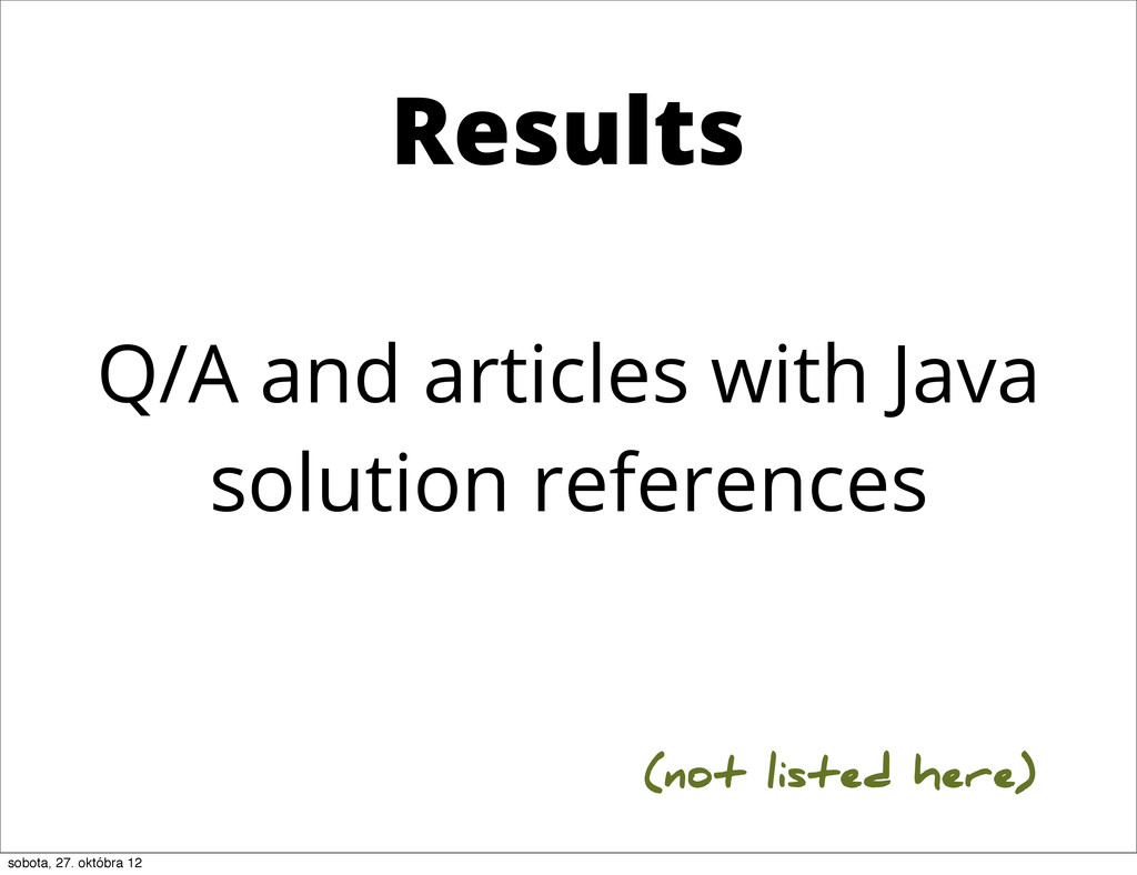 Q/A and articles with Java solution references ...