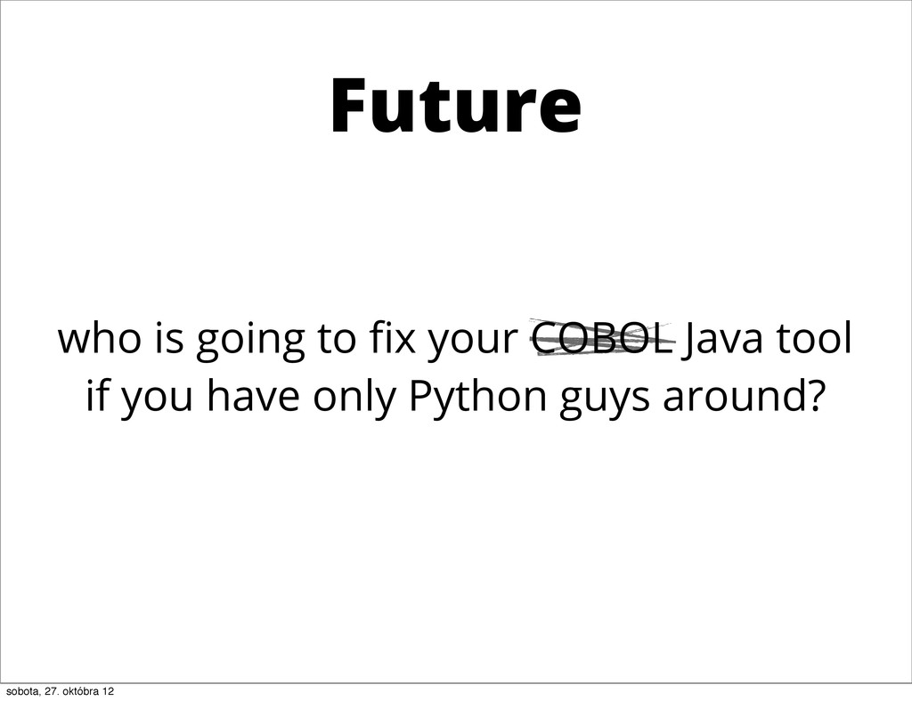 who is going to fix your COBOL Java tool if you ...