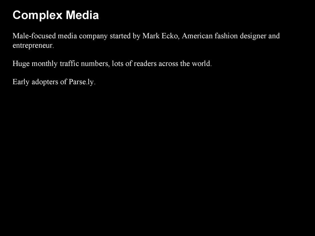 Complex Media Male-focused media company starte...