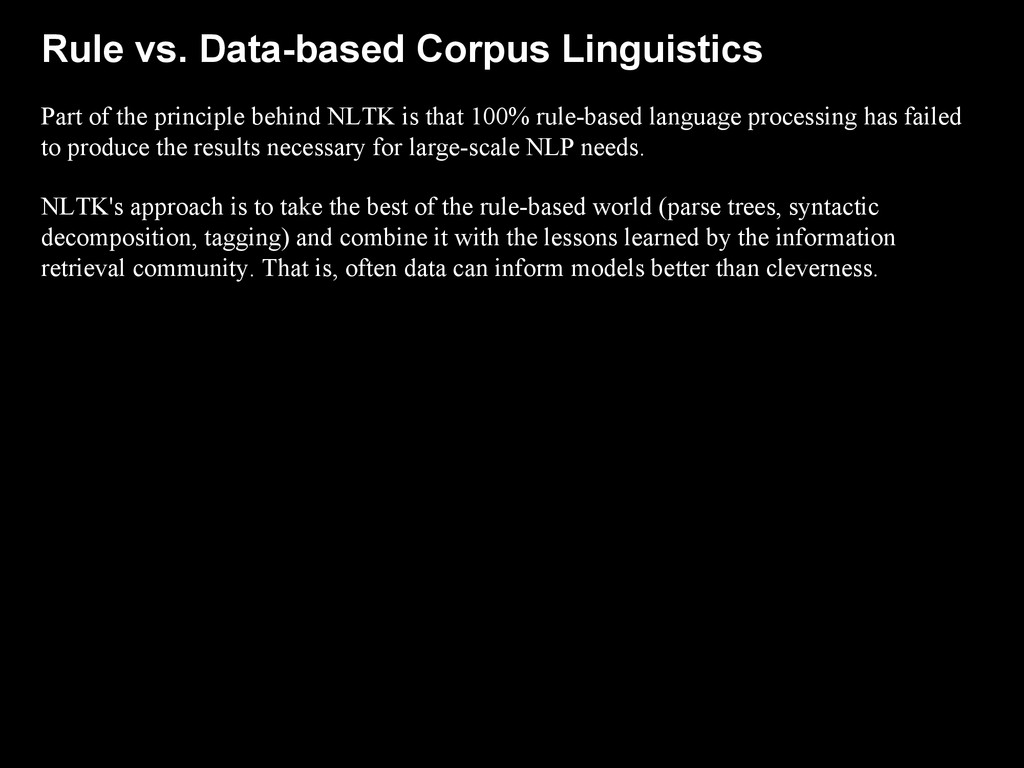 Rule vs. Data-based Corpus Linguistics Part of ...