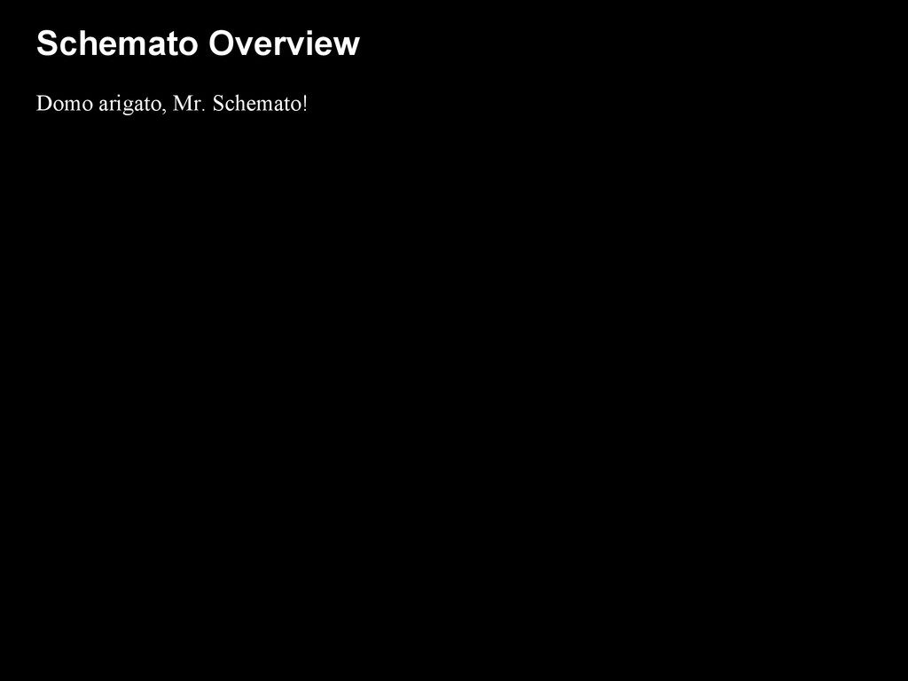 Schemato Overview Domo arigato, Mr. Schemato!