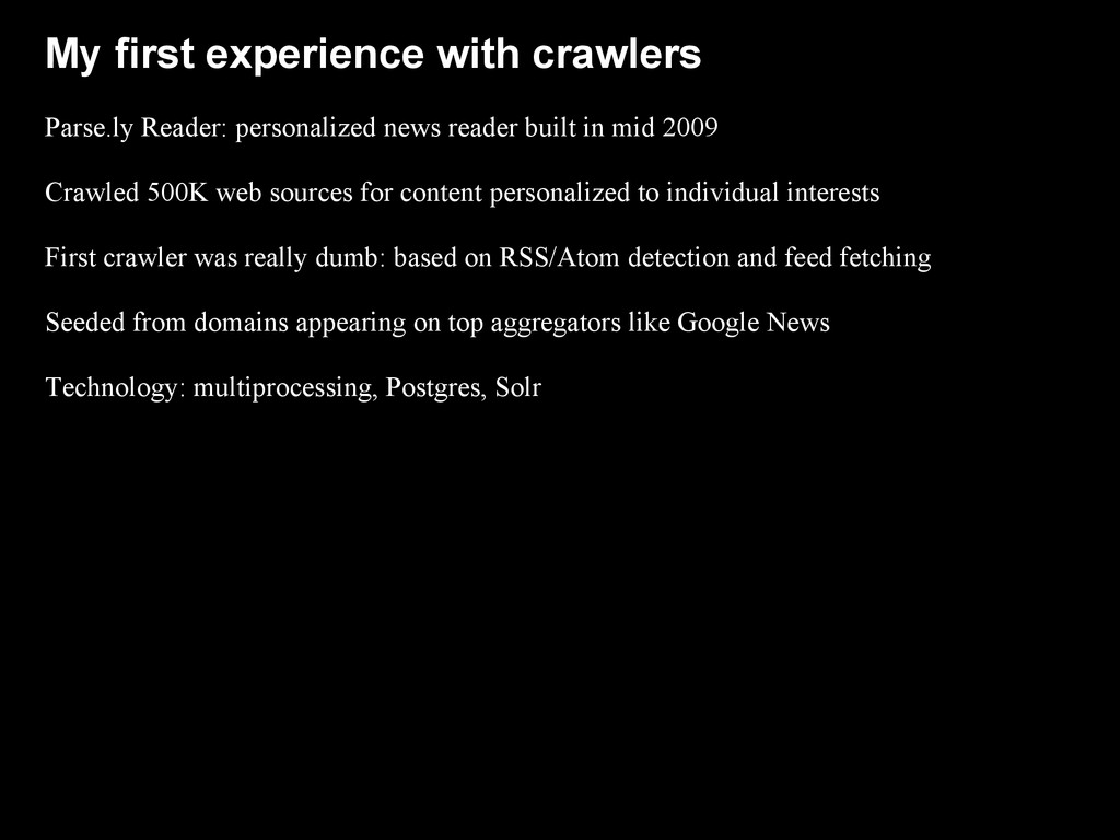 My first experience with crawlers Parse.ly Read...