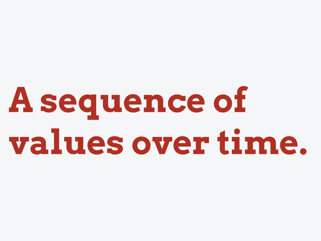 A sequence of values over time.
