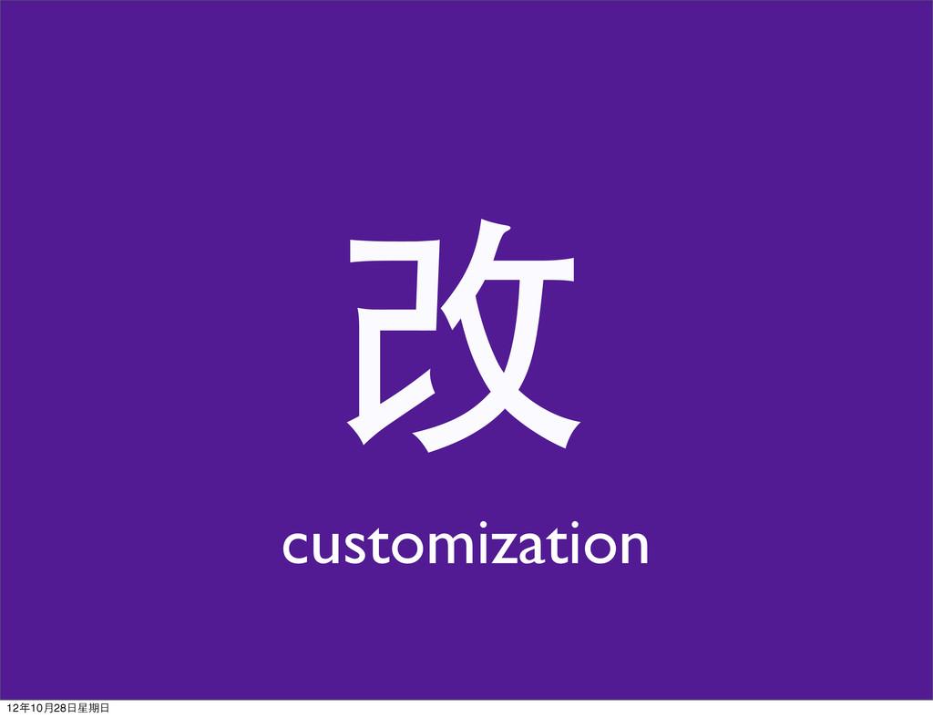 改 customization 12年10月28日星期日