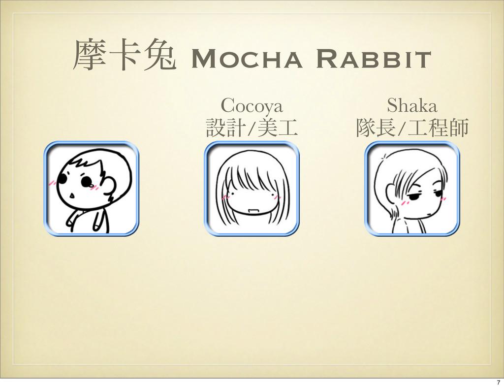 ຎ㠡ၴ Mocha Rabbit Shaka ୂ/ఔࢣ Cocoya ઃܭ/ඒ 7