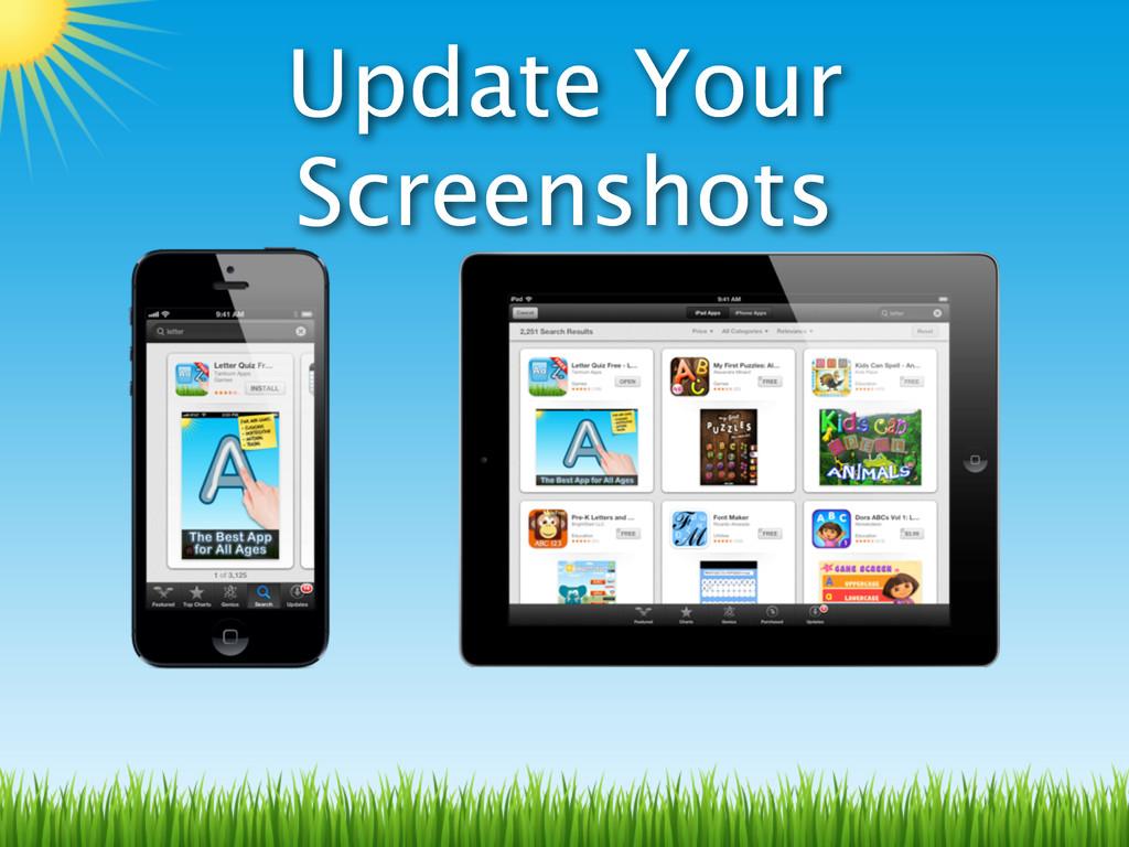 Update Your Screenshots