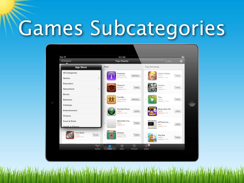 Games Subcategories