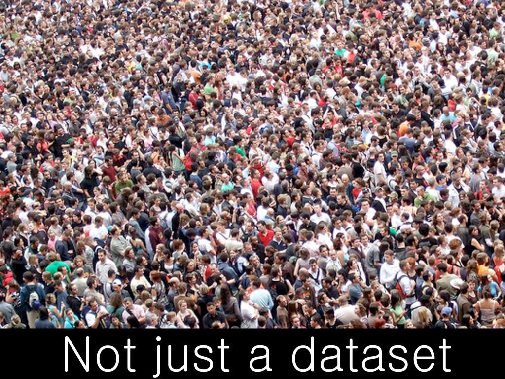 Not just a dataset