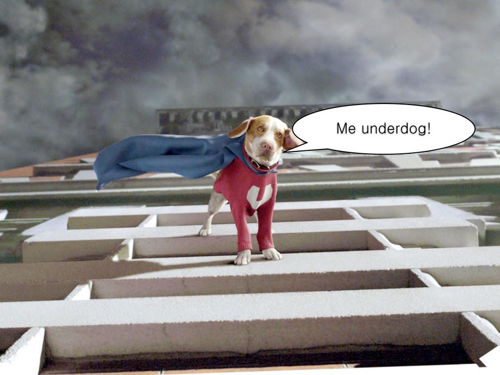 Me underdog!