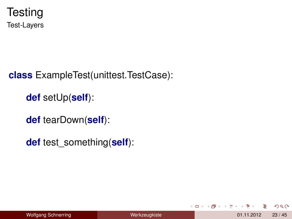 Testing Test-Layers class ExampleTest(unittest....