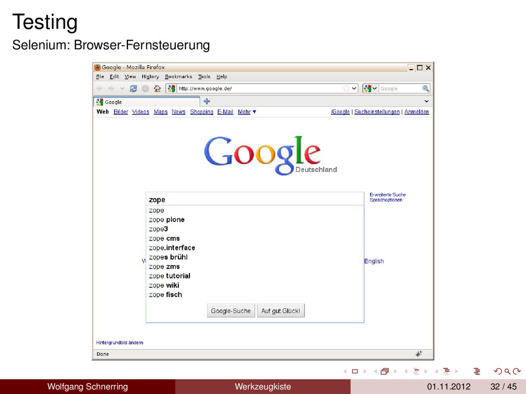 Testing Selenium: Browser-Fernsteuerung Wolfgan...