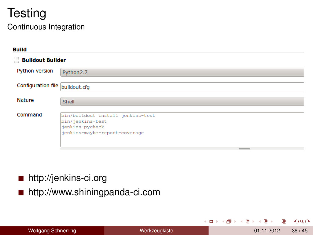 Testing Continuous Integration http://jenkins-c...