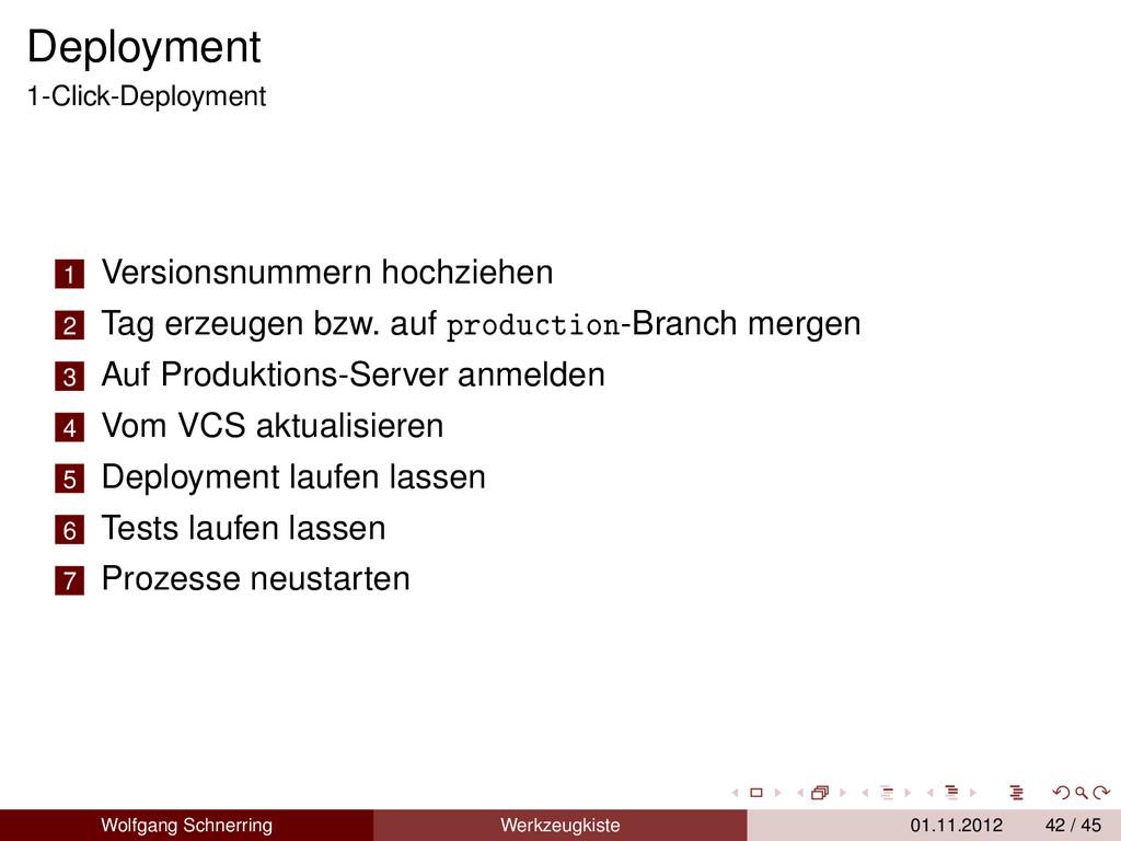 Deployment 1-Click-Deployment 1 Versionsnummern...