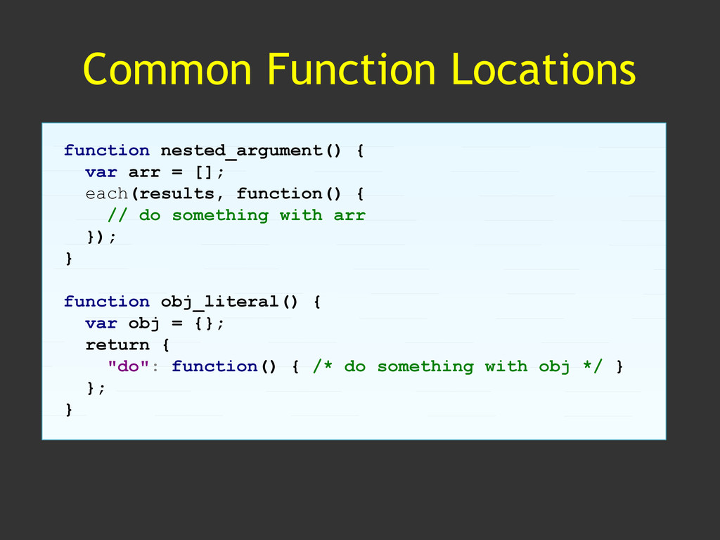 Common Function Locations function nested_argum...